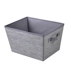 Clever Clothes Storage Bin with Handles - Charcoal