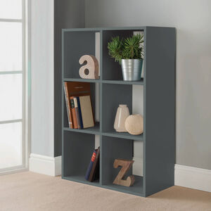 Rubix 6 Cube Shelf Organiser Grey