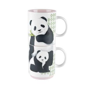 Cambridge Panda Family 2 Stacking Mugs