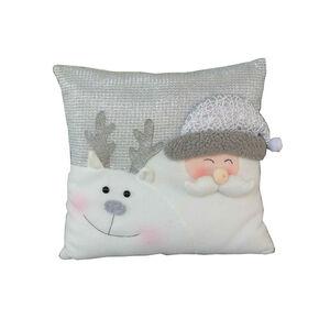 Sparkle Silver Santa Cushion