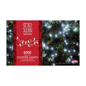 1000 White LED Cluster Lights