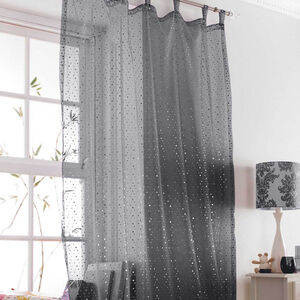 Popsical Black Voile Curtain