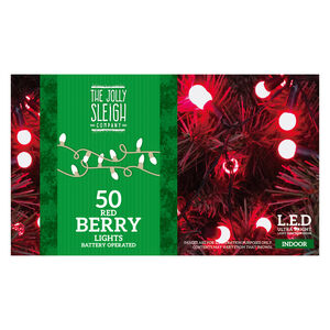 50 Red Berry Lights