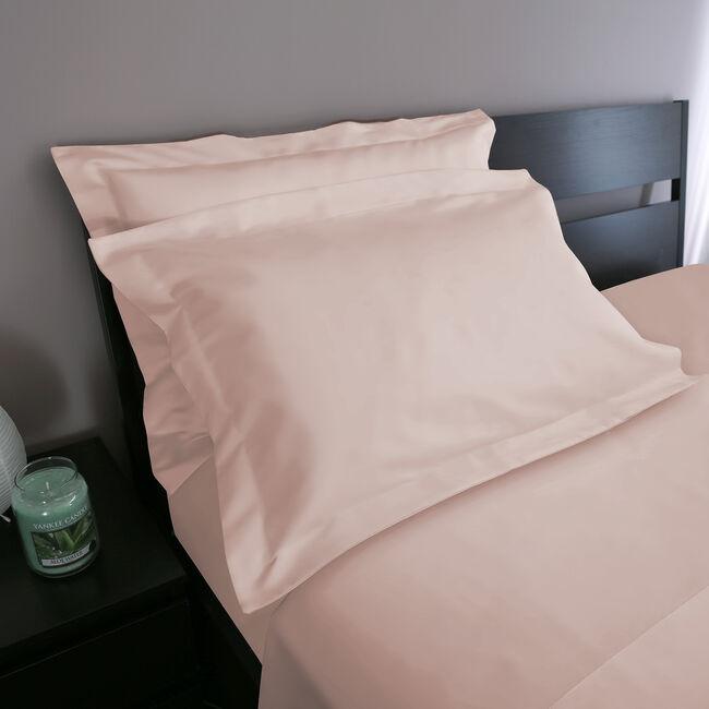Oxford 500 Threadcount Pillowcase Pair - Blush