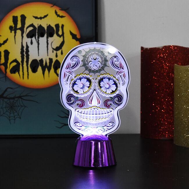 Halloween Light Up Day of the Dead Skull