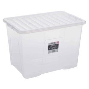Crystal Box & Lid Clear 80L