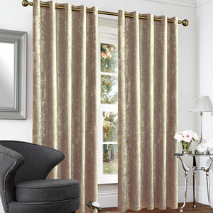 Blackout Thermal Crushed Velvet Curtains
