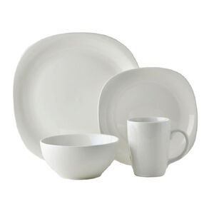 Quadro White Square Dinner Set 16Pc