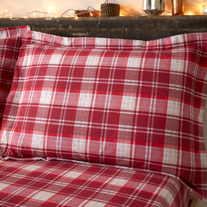 Brushed Cotton Plaid Stag Oxford Pillowcase Pair