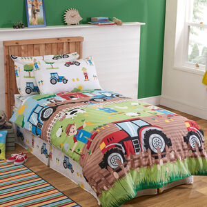 JUNIOR BED DUVET COVER Farm Day