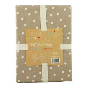 Polka Dot Tablecloth 140x180cm - Natural