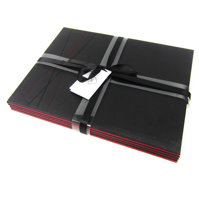 Reversible Black & Red Diamond Placemats 4 Pack