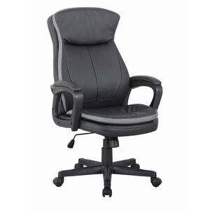 Theo Swivel Office Chair Black with Grey Detail
