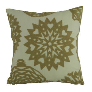Embroidered Star Cushion Natural 45cm x 45cm
