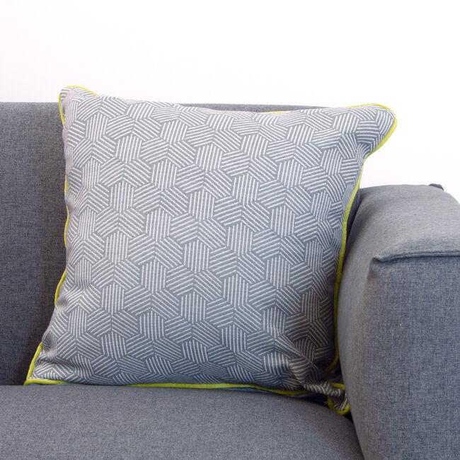 Neon Cushion 58x58cm -Steel