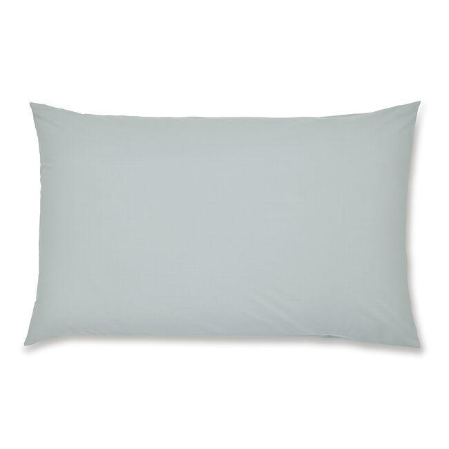 Luxury Percale Housewife Pillowcase Pair - Duck Egg