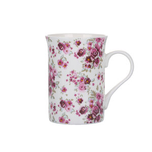 Abney & Croft New Bone Floral Mug - White