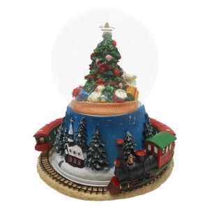 Musical Rotating Christmas Train Snow Globe