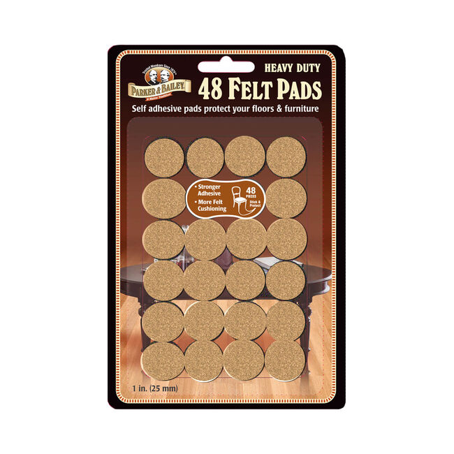 Parker & Bailey Heavy Duty Felt Pads 48 Pack