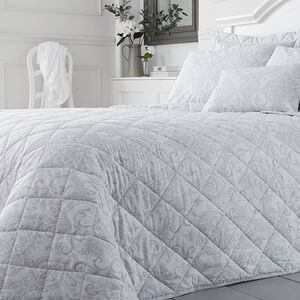 Tess Grey Bedspread 200x220cm