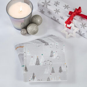 Snowy Penguins Napkins 20 Pack