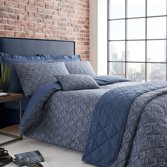 KING DUVET COVER Armadillo Scale Navy