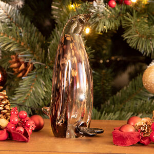 Cashel Living Glass Amethyst Penguin