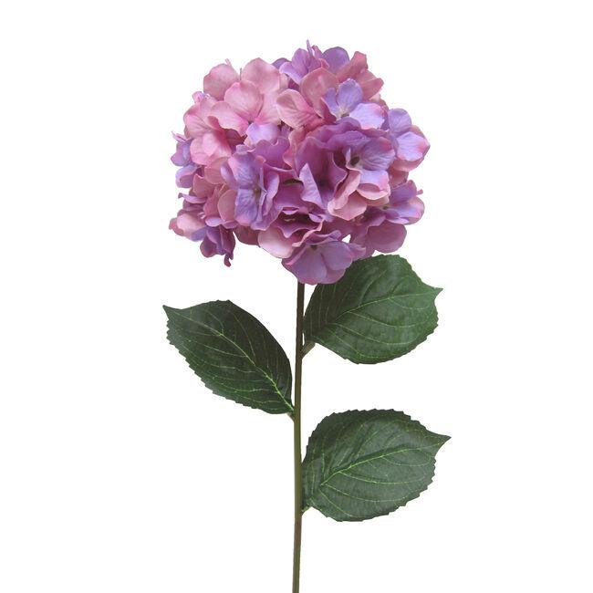 Hydrangea Spray Stem Flower Purple 74cm