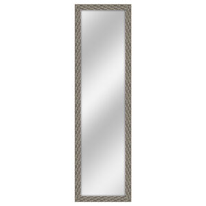 Over The Door Silver Feather Mirror 30cm x 120cm