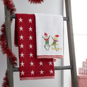 Christmas Elves Guest Towel - 2 Pack
