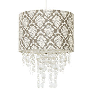 Baroque Pattern Shade with Pendants