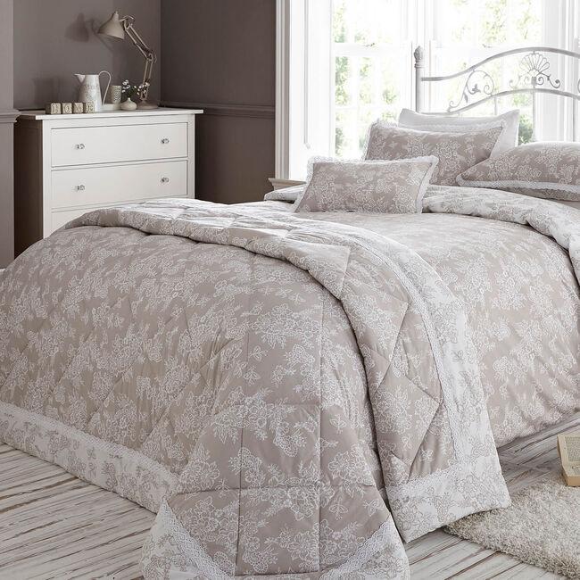Millie Natural Bedspread 200cm x 230cm