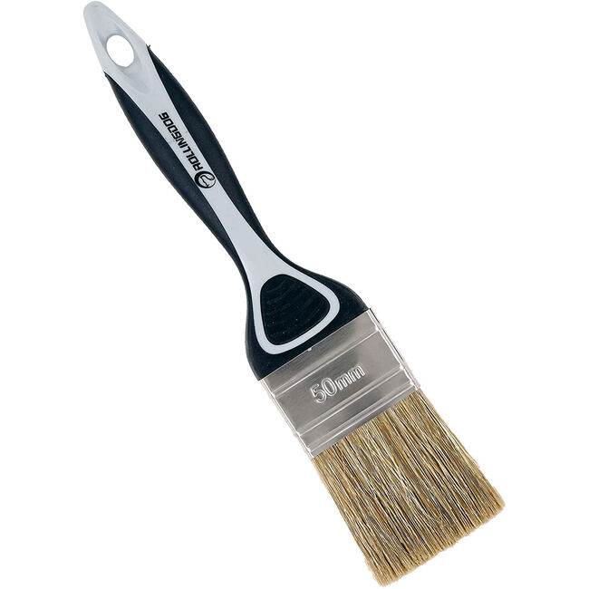 Rolling Dog 50mm Paint Brushes w/ Rubber Handle