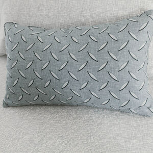 Diamond Plate Grey Cushion 30cm x 50cm