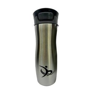 Metallic Silver Vacuum Travel Mug