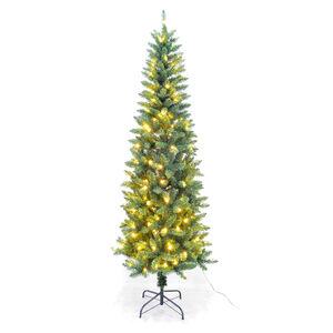 7 Ft Slim Pre-Lit Christmas Tree