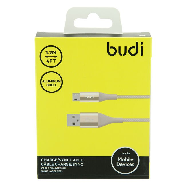 Budi Gold Micro USB Cable 1.2m