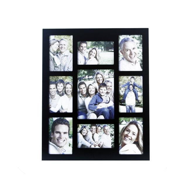 Classic Black 9 Window Photo Frame