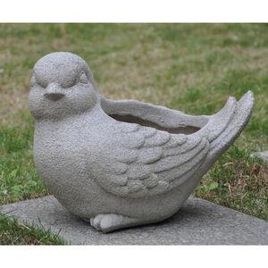 Bird Fibre Clay Plant Pot