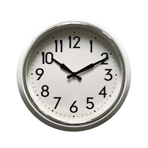 White Classic Collection Clock 23""