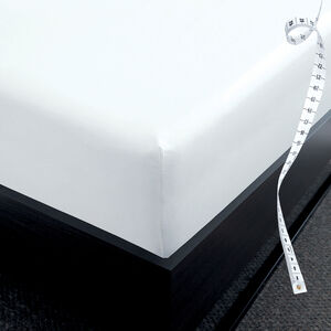 DB FITTED SHEET 800 Threadcount Cotton White