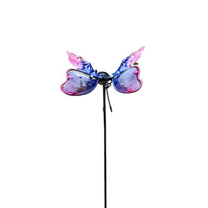 Butterfly Pot Stake - Pink