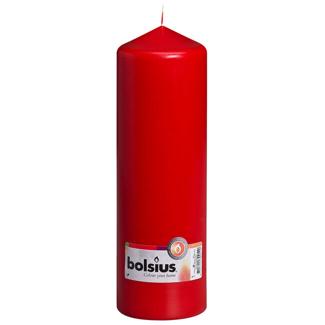 Bolsius Red Pillar Candle 25 x 8cm