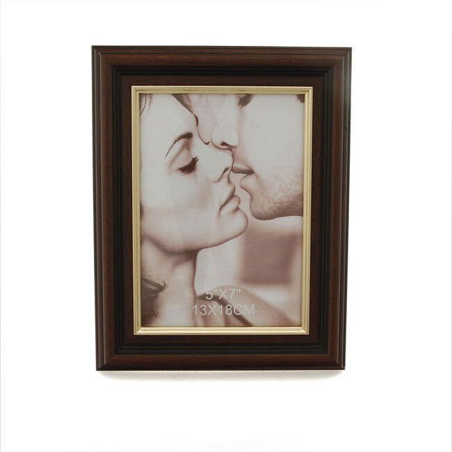 Brown & Gold Photo Frame 5x7""