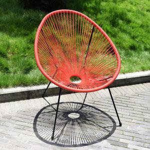 Rattan String Garden Moon Chair