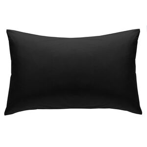 Luxury Percale Housewife Pillowcase Pair - Black