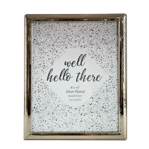 Silver Plated Boxed Frame 8x10""