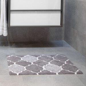 Trellis Bath Mat 50 x 80cm - Grey