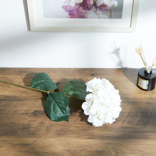 Hydrangea Spray Stem Flower Cream 74cm