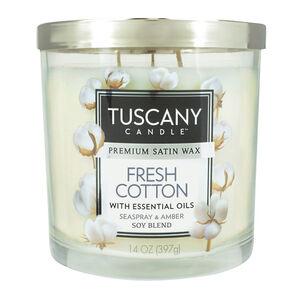 Tuscany Candle 3 Wick Jar Fresh Cotton